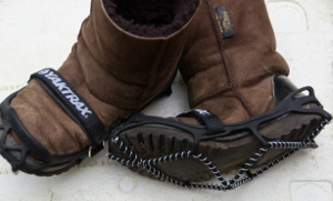 Yaxtrax ice grips for boots